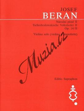 Beran Josef | Národní písně op. 14/II | Noty na housle - H1525.jpg