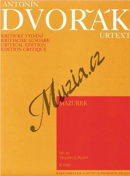 Dvořák Antonín | Mazurek op. 49 | Partitura a party - Noty na housle - H1550.jpg