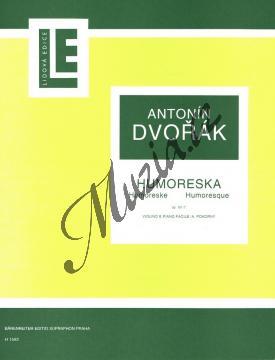 Dvořák Antonín   Humoreska G dur op. 101 č. 7   Partitura a party - Noty na housle - H1592.jpg