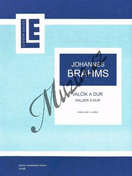 Brahms Johannes   Valčík A dur   Noty na klavír - H1625.jpg