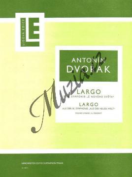 Dvořák Antonín | Largo z IX. symfonie (violino e piano facile /D dur/ - A. Pokorný) | Partitura a party - Noty na housle - H1811.jpg