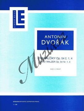Dvořák Antonín | Dva valčíky (č. 1 A dur, č. 4 Des dur) op. 54 | Noty na klavír - H1818.jpg