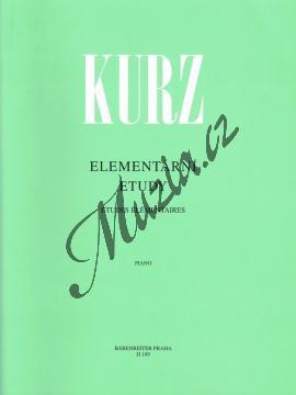 Kurz Vilém | Elementární etudy 1 | Noty na klavír - H189.jpg