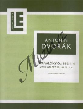 Dvořák Antonín | Dva valčíky op. 54 (č. 1 a 4) | Partitura a party - Noty na housle - H1890.jpg