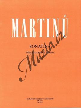 Martinů Bohuslav | Sonatina pro housle a klavír | Noty na housle - H2172.jpg