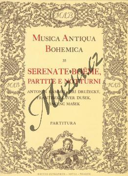 Kammel, Družecký, Dušek | Serenate Boëme, partite e notturni | Partitura - Noty pro dechový kvintet - H2304.jpg