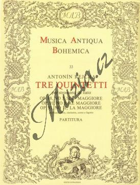 Rejcha Antonín | Tre quintetti per stromenti da fiato (op. 88, č. 3, op. 91, č. 9 a 11) | Partitura - Noty pro dechový kvintet - H2323.jpg