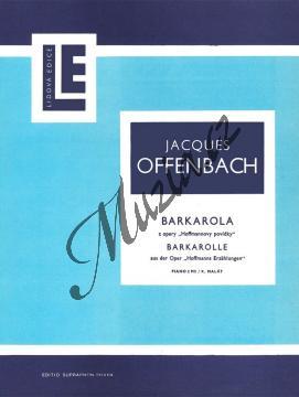 Offenbach Jacques   Barkarola z opery  Hoffmannovy povídky   Noty na klavír - H2611.jpg