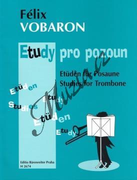 Vobaron Félix | Etudy pro pozoun | Noty na trombón - H2674.jpg