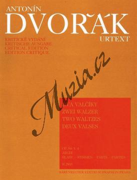 Dvořák Antonín | Dva valčíky op. 54 (č. 1 A dur, č. 4 Des dur) | Set partů - Noty pro smyčcový kvartet - H2803.jpg