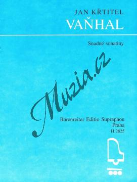 Vaňhal Jan Křtitel   Snadné sonatiny   Noty na klavír - H2825.jpg