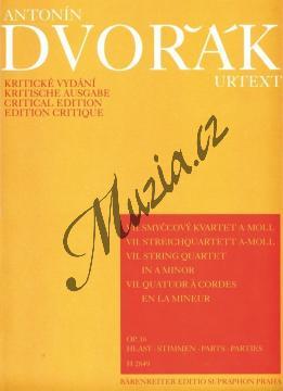 Dvořák Antonín | Smyčcový kvartet č. 7 a moll op.16 - Set partů | Noty pro smyčcový kvartet - H2849.jpg