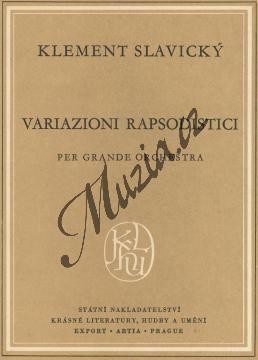 Slavický Klement   Rapsodické variace - Kapesní partitura   Noty pro orchestr - H2888.jpg
