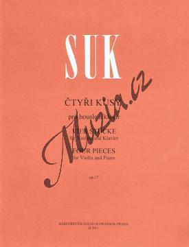 Suk Josef | Čtyři kusy pro housle a klavír op. 17 | Noty na housle - H3011.jpg