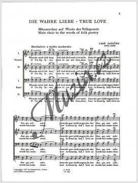 Janáček Leoš   Láska opravdivá   Sborová partitura - Noty pro sbor - H3026.jpg