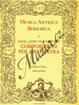 Vejvanovský Pavel Josef   Composizioni per orchestra 1   Partitura - Noty pro orchestr - H3079.jpg