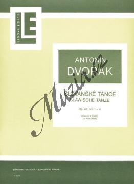 Dvořák Antonín | Slovanské tance op. 46, č. 1-4 | Partitura a party - Noty na housle - H3235.jpg
