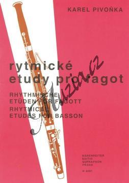 Pivoňka Karel   Rytmické etudy pro fagot   Noty na fagot - H3291.jpg