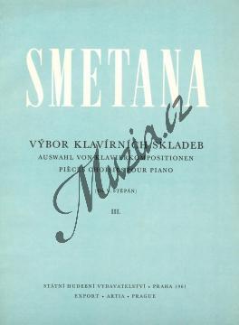 Smetana Bedřich | Výbor klavírních skladeb 3 | Noty na klavír - H3374.jpg