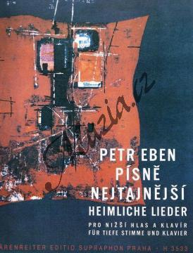 Eben Petr | Písně nejtajnější (pro nižší hlas a klavír) | Noty pro sólový zpěv - H3533.jpg