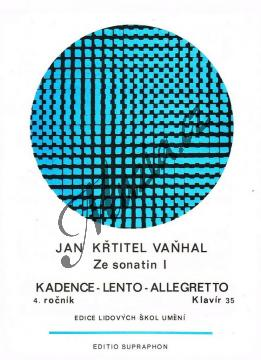 Vaňhal Jan Křtitel | Ze sonatin 1 | Noty na klavír - H3731.jpg
