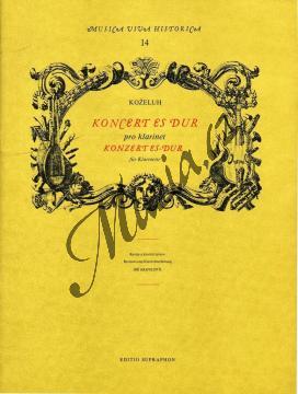 Koželuh Jan Evangelista Antonín | Koncert Es dur pro klarinet a orchestr | Klavírní výtah - Noty na klarinet - H3888.jpg