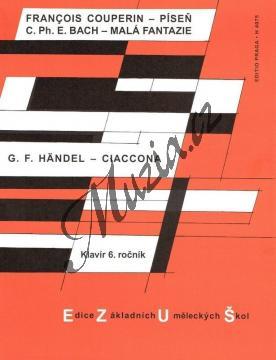 Couperin, Bach, Händel | Píseň - Malá fantazie - Ciaccona | Noty na klavír - H4075.jpg