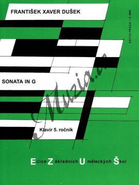 Dušek František Xaver | Sonáta in G | Noty na klavír - H4092.jpg