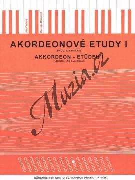 Ondruš Ján, Dikánová Marcela | Akordeonové etudy - 1. díl | Noty na akordeon - H4425.jpg
