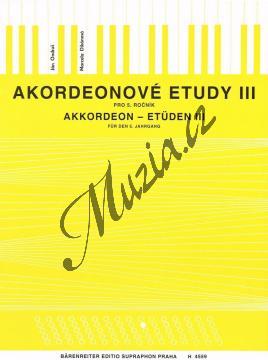 Ondruš Ján, Dikánová Marcela   Akordeonové etudy - 3. díl   Noty na akordeon - H4559.jpg