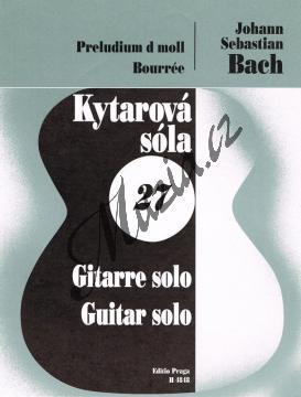 Bach Johann Sebastian | Preludium d moll, Bourrée | Noty na kytaru - H4848.jpg