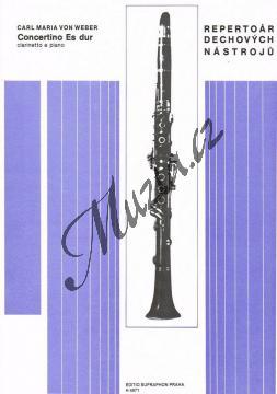Weber Carl Maria von | Concertino Es dur pro klarinet a orchestr op. 26 | Klavírní výtah - Noty na klarinet - H4871.jpg