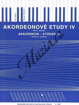 Ondruš Ján, Dikánová Marcela   Akordeonové etudy - 4. díl   Noty na akordeon - H4967.jpg