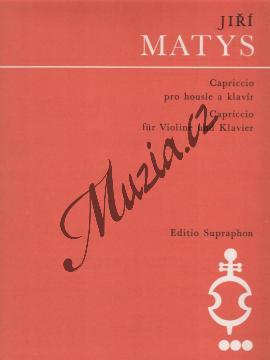 Matys Jiří | Capriccio pro housle a klavír | Partitura a party - Noty na housle - H5317.jpg