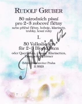 Gruber Rudolf | 50 národních písní pro 2-3 zobcové flétny, 1. díl | Partitura - Noty na zobcovou flétnu - H5323.jpg