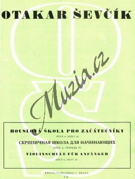 Ševčík Otakar | Houslová škola pro začátečníky - opus 6, sešit 4 | Noty na housle - H54.jpg