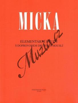 Micka Josef   Elementární etudy (s doprovodem druhých houslí)   Noty na housle - H5450.jpg