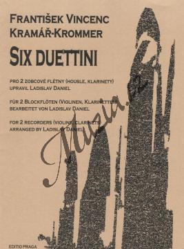 Kramář František Vincenc | 6 duettin (Six Duettini) pro dvě zobcové flétny (nebo 2 housle nebo 2 klarinety) | Noty na zobcovou flétnu - H5862.jpg