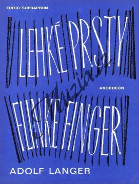 Langer Adolf | Lehké prsty (Intermezzo pro jeden nebo dva akordeony) | Noty na akordeon - H5871.jpg