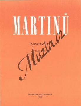 Martinů Bohuslav | Impromptu (Tři skladby pro housle a klavír) - Partitura a party | Noty na housle - H5906.jpg