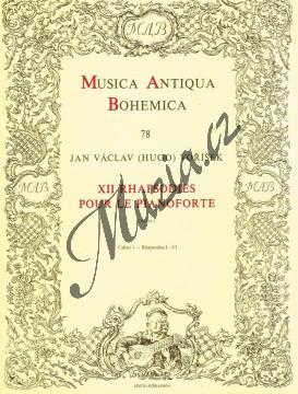Voříšek Jan Václav Hugo   XII rhapsodies pour le pianoforte op. 1 sešit 1 (Rhapsodie 1-6)   Noty na klavír - H6036.jpg