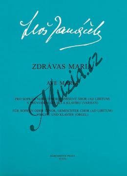 Janáček Leoš   Zdrávas Maria   Sborová partitura - Noty pro sbor - H6252.jpg