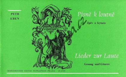 Eben Petr | Písně k loutně na středověkou milostnou poezii | Noty pro sólový zpěv - H6300.jpg