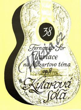 Sor Fernando | Variace na Mozartovo téma opus 9 | Noty na kytaru - H6304.jpg