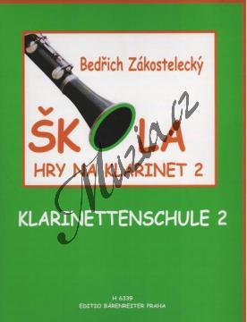 Zákostelecký Bedřich | Škola hry na klarinet - 2. díl | Noty na klarinet - H6339.jpg