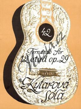 Sor Fernando | 12 etud op. 29 | Noty na kytaru - H6600.jpg