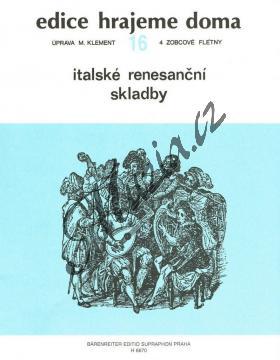 Album | Italské renesanční skladby | Partitura a party - Noty na zobcovou flétnu - H6607.jpg