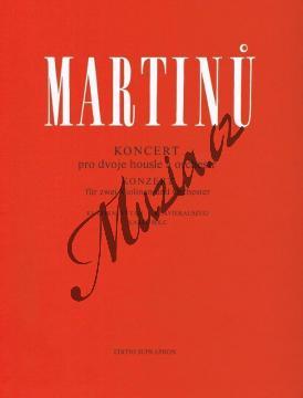 Martinů Bohuslav   Koncert pro dvoje housle a orchestr   Klavírní výtah - Noty na housle - H6701.jpg
