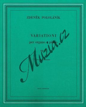 Pololáník Zdeněk | Variace pro varhany a klavír op. 1 | Set partů - Noty na varhany - H6727.jpg
