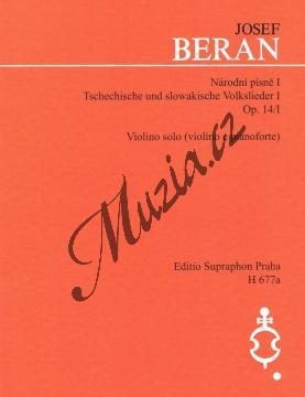 Beran Josef | Národní písně op. 14/I | Noty na housle - H677a.jpg